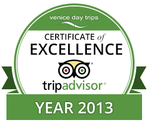 Certificate of Excellence 2013 Venice Day Trips